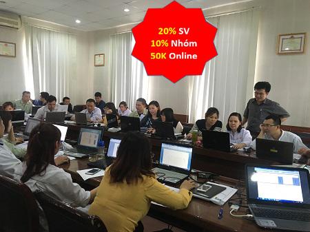 Trung tâm Tin học VT - Giảm 20% Cho Sinh VIên và 10% Nhóm